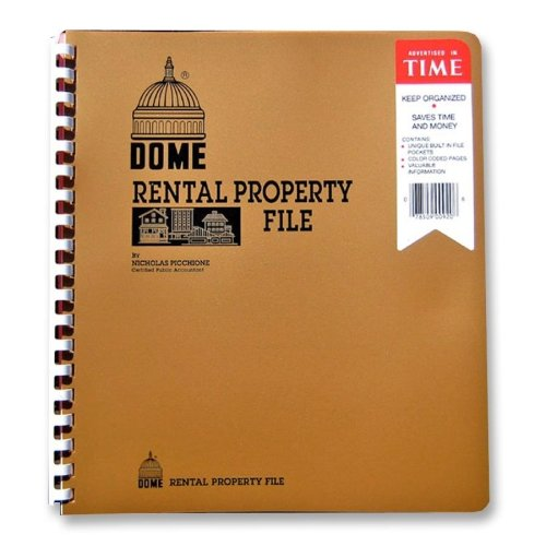Wholesale CASE of 20 - Dome Publishing Rental Property File-Rental Property File,w/ Inside Pockets,Not Dated,9-3/4''x11''