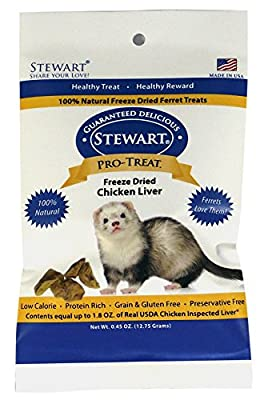 GIMBORN Pro Treats for Ferret Freeze Dried Chicken Liver Treats for Ferrets, .45 ounce by Phillips Feed & Pet Supply
