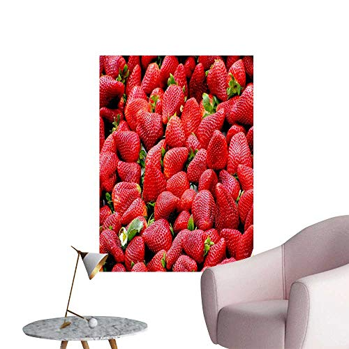- Wall Stickers for Living Room Seductive Fresh Strawberry Vinyl Wall Stickers Print,20