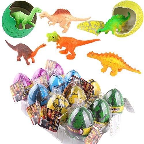 [12 Pcs SOMAN Large Big Size Multicolor Crack Magic Hatching Growing Emulational Crack Dinosaur Eggs] (Funny 2 People Costume)