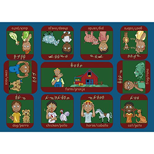 Signs on the Farm Rug - Rectangle - 5' 4