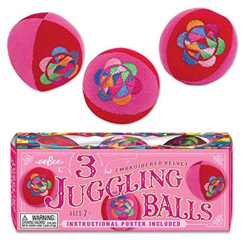 Eeboo Juggling Balls, Pink, Set of 3