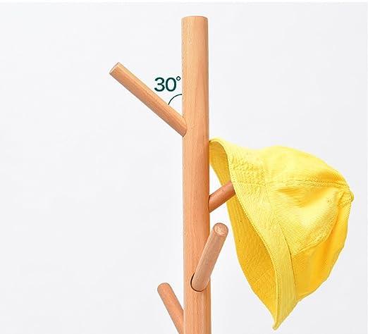 Perchero Soporte de la capa de madera 8 ganchos Sombrero y ...