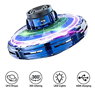 FlyNova Hand Operated Drone Mini Drone Helicopter with Rotating and Shinning LED Lights Self Flying Drone for Adults and Kids Flying Toys (Blue)