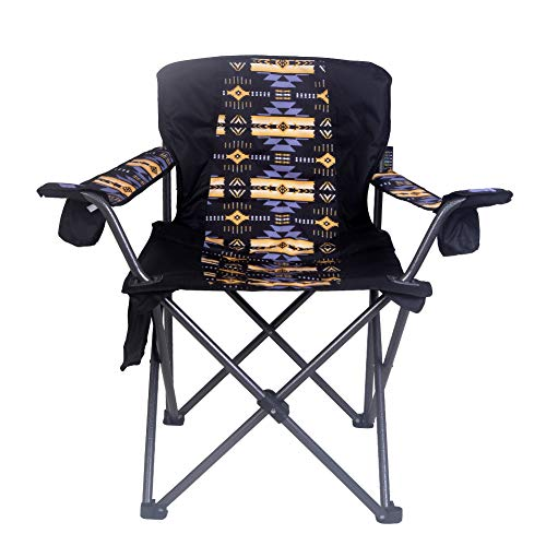 Nu Trendz Signature Native Design Folding Large Camping Chair, 400 lbs Capacity (Pit) ()