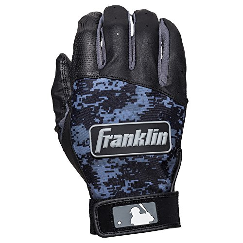 - Franklin Sports MLB Digi Camo Batting Gloves, Black, Large