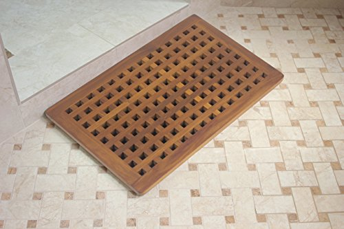 The Original Teak Grate Bath Shower Mat by AquaTeak (Image #1)