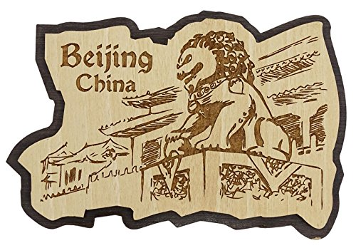 Printtoo Wooden Engraved Beijing China Fridge Magnet Souvenir Gift - Magnet Fridge Collectible