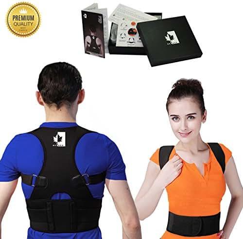 BeaBos Back & Shoulder Posture Corrector for Women & Men - Adjustable, Comfortable Clavicle Brace – Posture Support Belt - Size XL