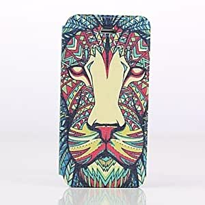 PEACH Vivid Lion Pattern Full Body Case with Stand for iPhone 5/5S