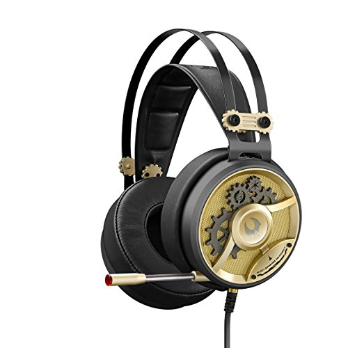 M660 MOCI HiFi Gaming Headset, Built-in Microphone, Light Weight, Compatible Across Platforms by Bloody Gaming (Steampunk-tech)