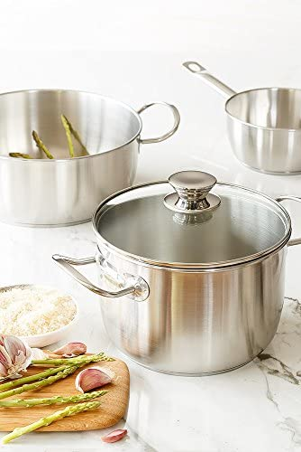Amazon.com: Monix Chef - Cacerola con tapa de cristal (6.3 ...