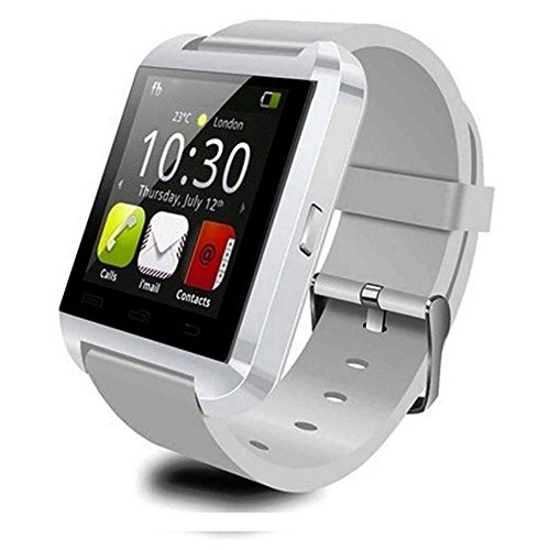 U8 Smartwatch UWatch Bluetooth Smart Watch Fit for Samsung Galaxy S4/S5/S6/S7 Edge Note 3/4/5 HTC Nexus Sony LG Huawei Android Smartphones (White)
