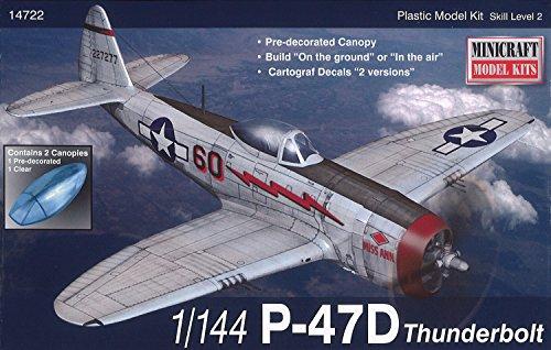 Minicraft P-47D USAAF Model Kit (1/144 Scale)