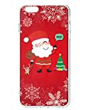 iPhone 6S Plus Back Case, UKASE Lovely Santa Claus on Red Background for 5.5 inch Apple Phone 6 Plus (2014 Version) / Apple Phone 6S Plus (2015 Version)
