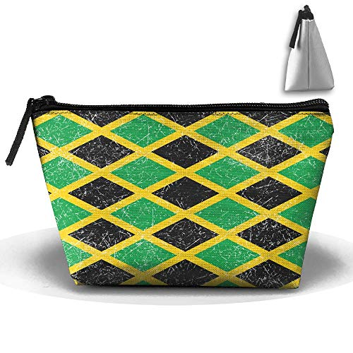 Louise Morrison JAMAICA Jamaican Flag Caribbean Pen Stationery Pencil Case Cosmetic Makeup Bag Pouch -
