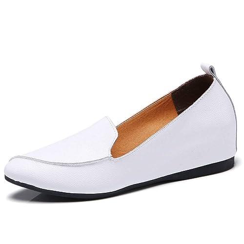 Zapatillas De Mujer con Bailarinas Y Zapatos Planos ResbalóN En Mocasines con Punta De Dedo De Piel Dividida Zapatillas De Ballet con TacóN Alto: Amazon.es: ...