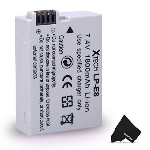LP-E8/ LPE8 Battery for Canon EOS Rebel T2i T3i T4i T5i EOS 550D 600D 650D 700D Kiss X4 X5 X6