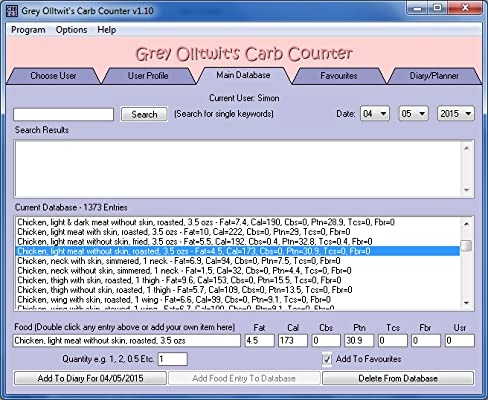 Grey Olltwit's Carb Counter [Download]