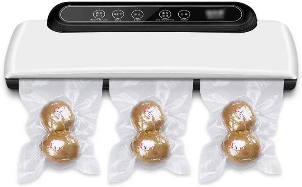YZX 110-220V Automatic Vacuum Sealer Machine, Dry Moist Food Saver Packing Machine for Storage Preservation, Suitable for Outdoor and Home(with Vacuum Bags) US