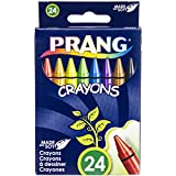 Prang Crayons, Standard Size, Box of 24 Crayons, Assorted Colors (00400)