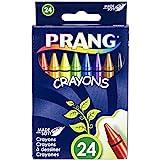 Prang Crayons, Standard Size, Box of 24 Crayons, Assorted Colors (00400)
