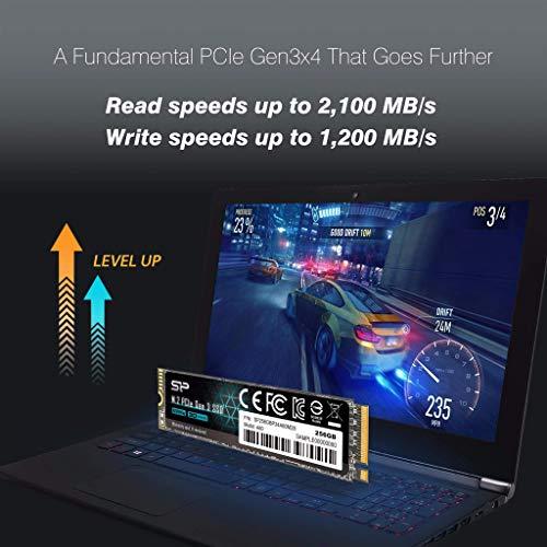 Silicon Power 256GB - NVMe M.2 PCIe Gen3x4 2280 SSD (SP256GBP34A60M28)
