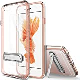 iPhone 6S Case, OBLIQ [Naked Shield][Rose Gold][Metal Kickstand] Slim Fit Crystal Clear Scratch Resist Heavy Duty Protection Dual Layer Case for Apple iPhone 6S (2015) & iPhone 6 (2014)
