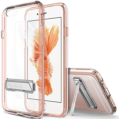 Obliq OBIP6S-NAKED05 Naked Shield Fall mit Standplatz für Apple iPhone 6/6S rosa/gold