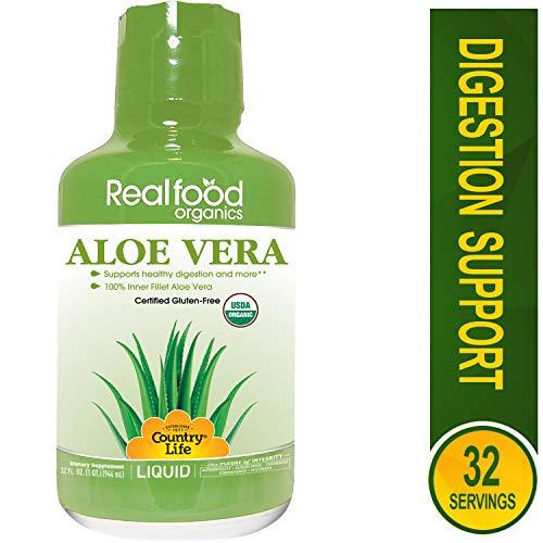 Country Life - Realfood Organics Basic Aloe Liquid - 32 Ounce