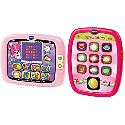 VTech Light Up Baby Touch Tablet and VTech Tiny Touch Tablet in Color Pink Bundle
