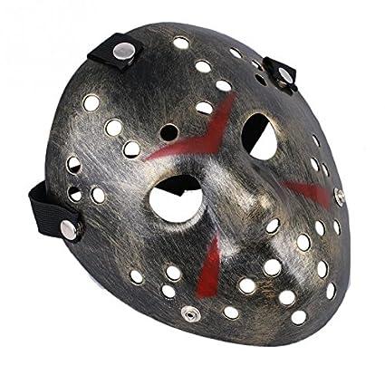 Bei Wang Jason Voorhees Freddy máscara de hockey máscara de Halloween (tamaño para adultos)
