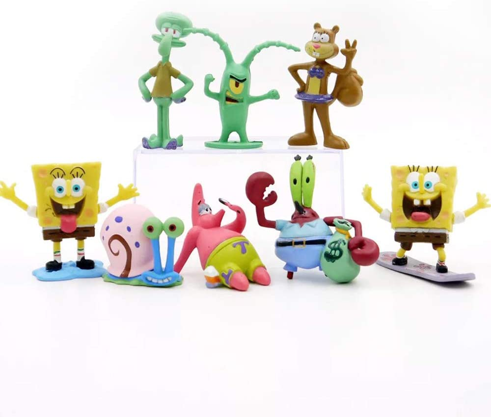 Plant Automobile Decoration Cake Topper QTFHR 8 pcs Lovely Animal Characters Toys Mini Figure Collection Playset