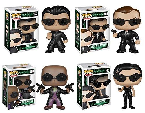 Funko Pop! Movies: The Matrix - Set of 4 Vinyl Figures (Neo, Agent Smith, Morpheus & Trinity)