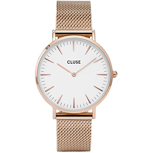 CLUSE-La-Bohme-Round-38mm-Full-Black-Analog-Display-Quartz-Womens-Watch-Stainless-Steel-Mesh