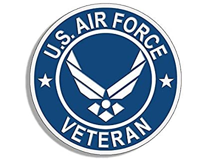 34a73535 GHaynes Distributing ROUND US Air Force VETERAN Sticker Decal (usaf Sticker  Decal ic vet) Size: 4 x 4 inch