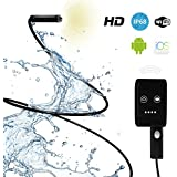 Inspection Camera with Light - Best Endoscope Inspection Camera with Extension Cable - Works with iPhone and Android App - Ideal Waterproof Smartphone Borescope Snake Inspection Camera