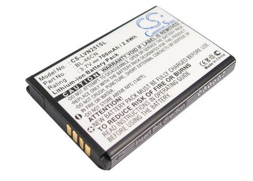 Replacement Battery for LG A340, Cosmos 2, Cosmos 3, VN251, vn251s, vn360, Wine III 700 Mah Replacement Battery