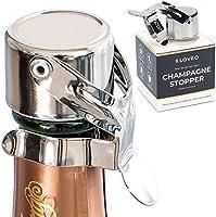 Kloveo - Tapones de champán patentados (sin bomba de presión) fabricados en Italia - Tapón de botella de champán WAF de grado profesional - Prosecco