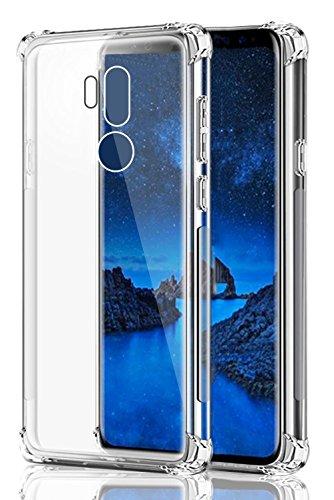 LG G7 Case, LG G7 ThinQ Case, SKTGSLAMY Soft TPU Case Crystal Transparent Slim Anti Slip Case Back Protector Case Cover for LG G7 (Clear)