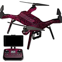 MightySkins Protective Vinyl Skin Decal for 3DR Solo Drone Quadcopter wrap cover sticker skins Paisley
