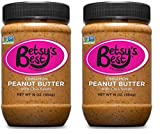 Gourmet Cinnamon Peanut Butter w/Chia Seeds by Betsy's Best - FREE RECIPE E-BOOK - All Natural and GMO Free (Cinnamon Chia, 2 16 oz Jars)