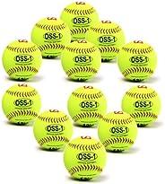 "barnett OSS-1 Practice Baseball, Softball Ball, Size 12"", Yellow, 1"