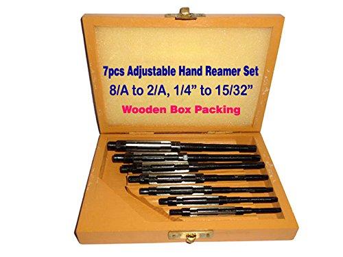 "Adjustable Hand Reamer Set Of 7pcs HV to H3 (1/4' - 15/32"" ) Premium Quality indiadeals24x7"