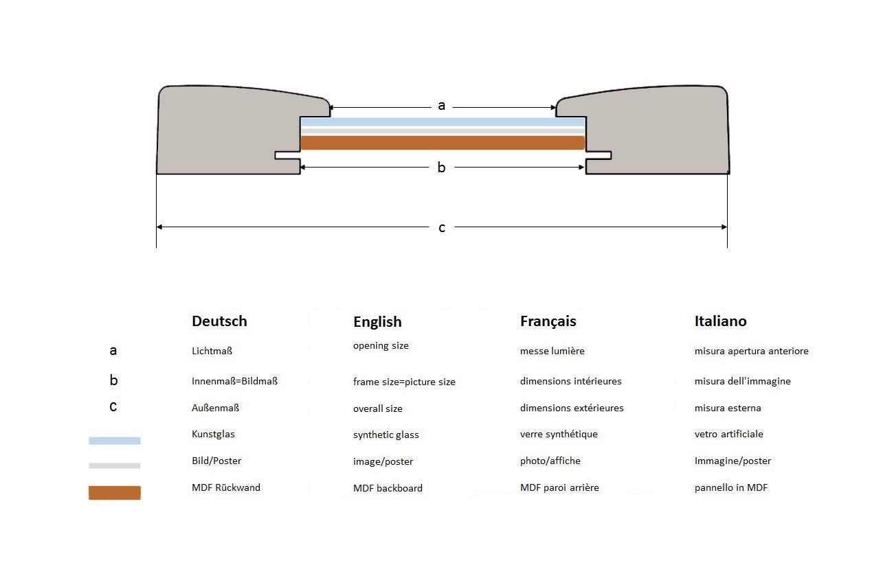 Amazon.de: EUROLine35 Bilderrahmen nach Maß für 10 cm x 12 cm Bilder ...