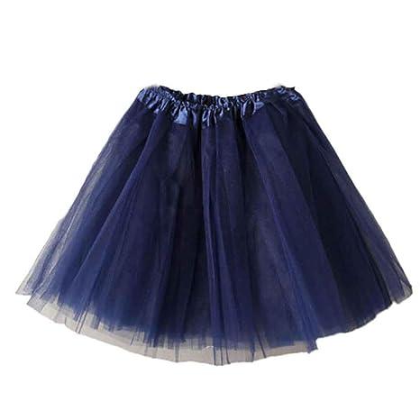 squarex Falda Corta de Gasa Plisada Adulto, Mujer, Azul Marino ...