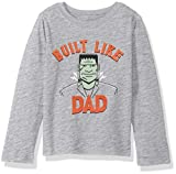 Crazy 8 Boys Long Sleeve Graphic Tee, Grey Built Like Dad 5T