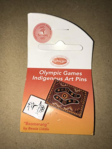 INDIGENOUS ART BOOMERANG FOOT SYDNEY OLYMPIC GAMES 2000 PIN BADGE (Olympic Pins Sydney)