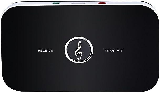 HYSWOW Bluetooth Receptor Transmisor, Adaptador Audio Bluetooth 4.1 Sonido Estéreo Transmisión Sin Pérdidas 3.5mm Puerto para Altavoces, Auriculares, TV, PC, iPhone, Radio etc: Amazon.es: Electrónica