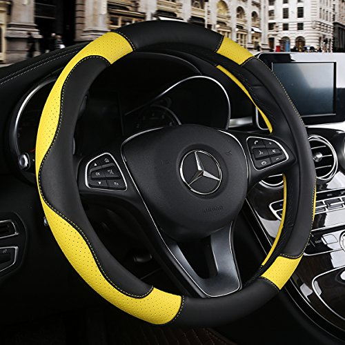 Yellow Stitch Steering Wheel - 6